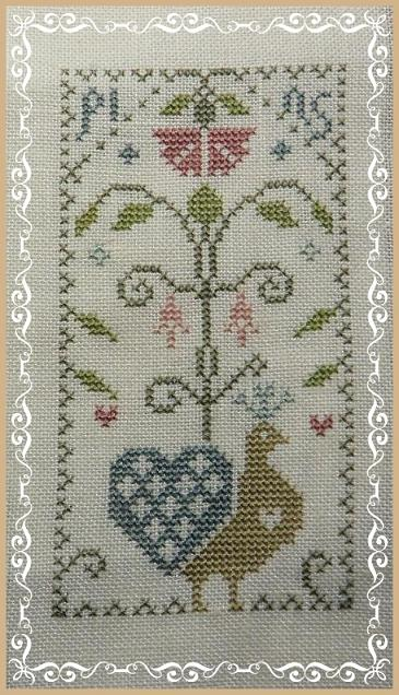 Tradition oblige : broderie finie ! dans Nature (Faune et flore) Coussin-Paon-Pins1